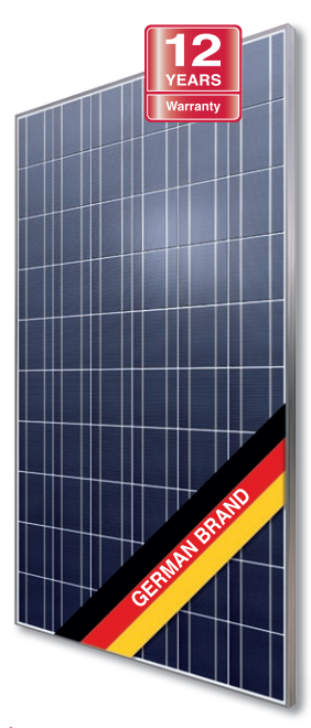 renewable energy solar panel with a german flag